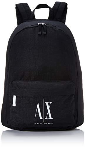 Armani Exchange - Icon Backpack, Mochilas Hombre, Negro (Nero Black), 47x12.5x36 cm (B x H T)