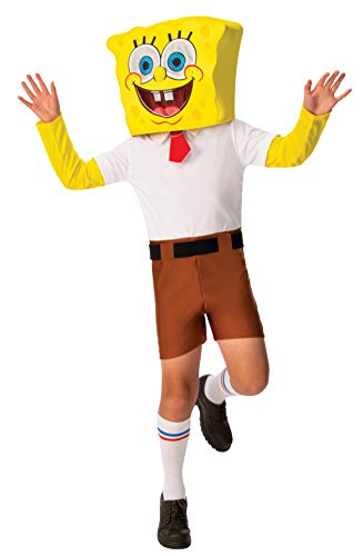 Rubie's Nickelodeon - Disfraz clásico de Bob Esponja para niño, tamaño mediano