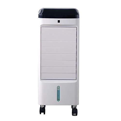 Refrigerador Portable con el telecontrol, Pequeño refrigerador evaporativo 3 velocidades y Modo, Aparato de Aire Acondicionado silencioso 12h Temporizador, Enfriador de Agua Añadir Agua Encima