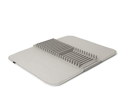 Umbra UDry - Alfombrilla para secar platos, color gris claro, grande