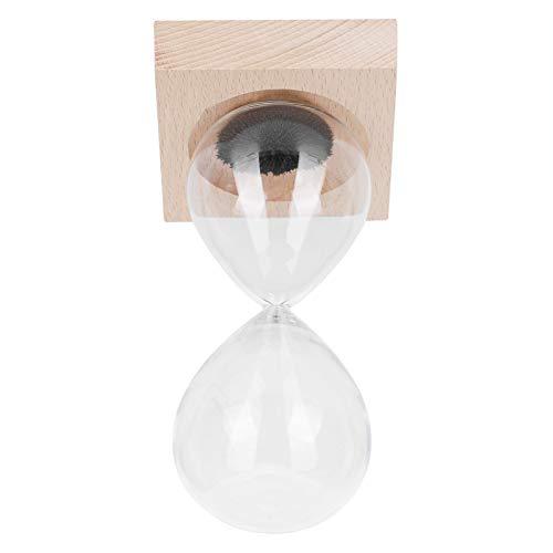 Fybida Temporizador de Arena de Moda Juguete de Escritorio Reloj de Arena magnético Duradero práctico Reloj de Arena Reloj de Arena con Base para cocinar Regalo de cumpleaños