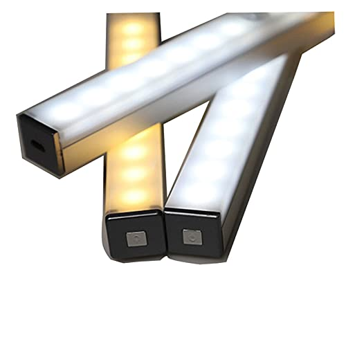 21cm 29cm 14 lysdioder 20 LED-lampor Långremsa under skåpet Ljusmagnetisk garderob Lampor Motion Sensor CLOSET-lampa för köksavdelning (Color : 210mm-14LED Warm)