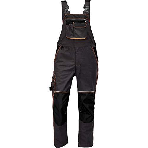 CERVA Knoxfield Arbeitslatzhose für Herren - strapazierfähige Arbeitshose für Männer mit reflektierenden Nähten Größe 54, Farbe Anthrazit/Orange