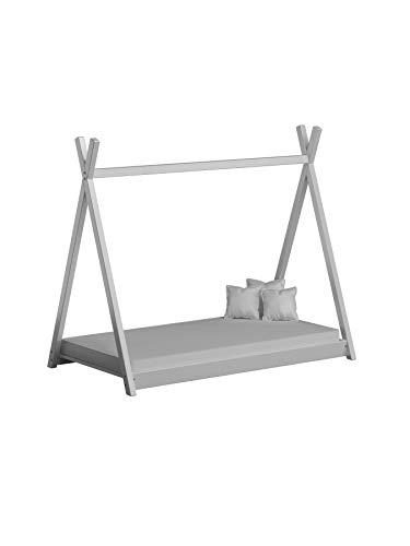 Children's Beds Home Cama con Dosel Individual de Madera Maciza - Estilo Titus Tepee para niños Niños Niño pequeño - Sin colchón Incluido (190x90, Blanco)