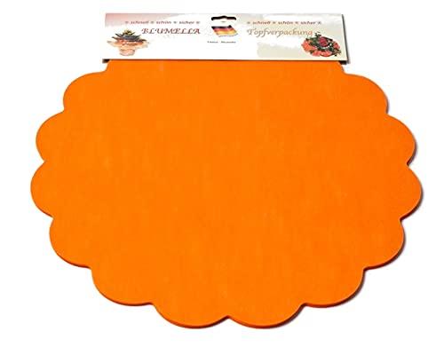 Decpero Blumella Topfmanschetten / 25 Stück / 54 cm/orange