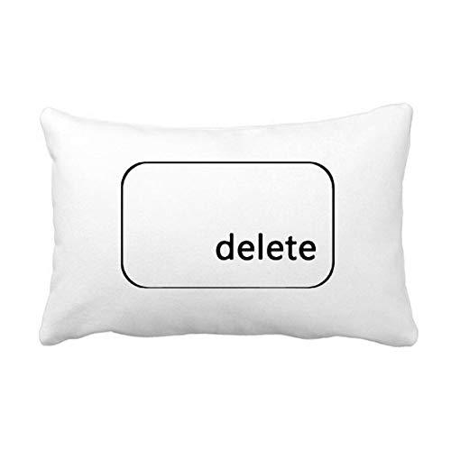 DIYthinker Keyboard Symbol Delete Throw Lumbar Pillow Insert Cushion Cover Home Sofa Decor Gift