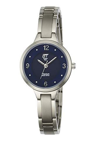 ETT Eco Tech Time Solar Damen Uhr Analog mit Titan Armband ELT-12045-31M
