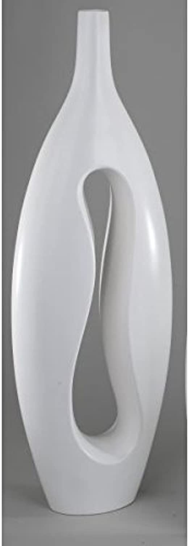 Formano Bodenvase, Dekovase SAMUNGA weiß matt glasiert H. H. H. 65 cm Keramik oval B00YE0Q29K cd5b63