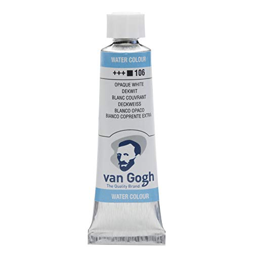 Van Gogh Watercolor Paint, 10ml Tube, Opaque White 106