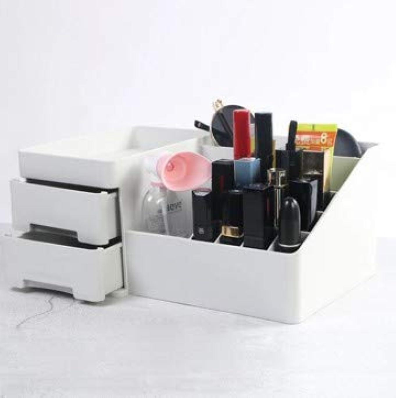 腸以下短命デスクトップ引き出し型化粧品収納ボックスプラスチックドレッシング収納ホーム収納ボックス (Color : グレー)