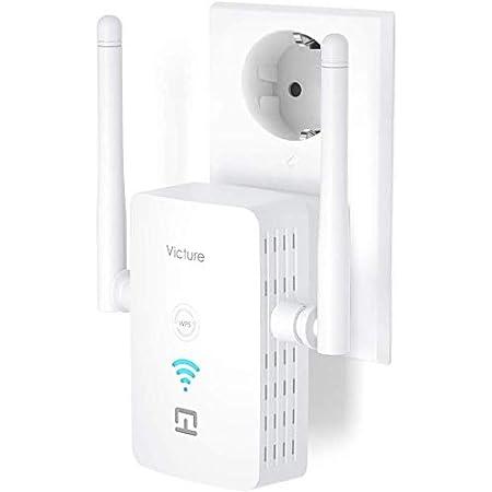 Victure Dual Band Repetidor WiFi, 5Ghz / 2.4Ghz Extensor de Rango WiFi de 1200 Mbps con Puerto Ethernet, configuración fácil y Sencilla, para Extender ...