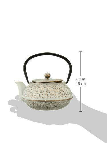 cottacotta鉄器急須花白金白金15.6×14×14.6cm92162