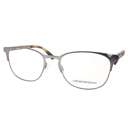 Armani 0EA1059 Gafas, Metálico Mate, 53 para Hombre