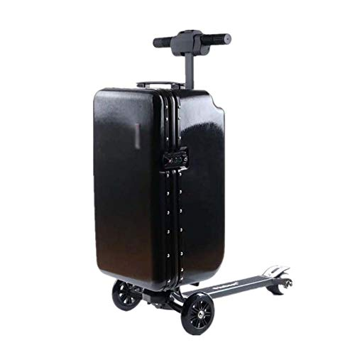 Lowest Price! ZNSBH Electric Luggage Scooter, Portable Smart Riding Travel Suitcase Carryon Luggage ...