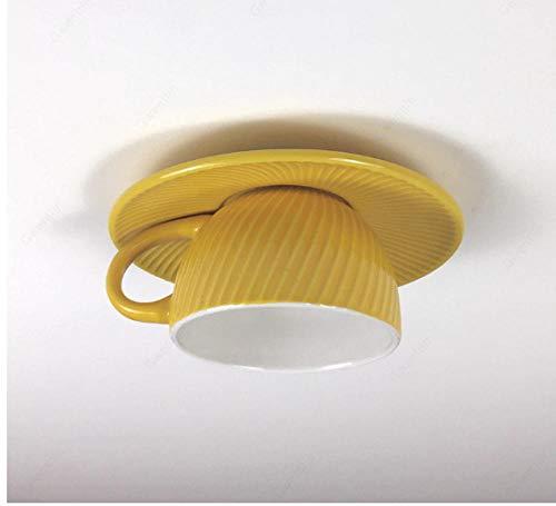 Deckenleuchten Deckenlampe Deckenbeleuchtung Deckenspot Wohnzimmerlampe Nordic Kreative Keramik Tasse Deckenleuchten Moderne Bunte Deckenbeleuchtung Lampe Schlafzimmer Esszimmer Leuchten Wohnkultur-Ge