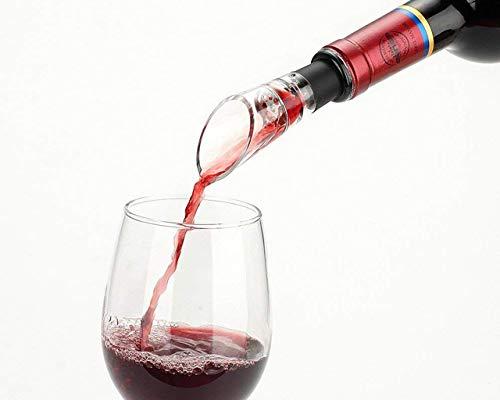 Tegcare Weinausgießer, Belüftung Ausgießer, Dekantierausgießer mit Belüfter, 2 Stück Set, 40.01 g