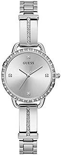 ساعة رسمية من جيس للنساء، هيكل ستانلس ستيل، مينا فضي، انالوج - GW0022L1