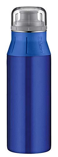 alfi Edelstahlflasche elementBottle Real Pure blau, Trinkflasche Edelstahl 600ml, auslaufsicher, spülmaschinenfest, 5357.132.060 BPA Frei, Flasche für Wasser, Saft, Tee, Softdrinks, toGo oder im Büro