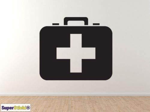 Superstikki EHBO-koffer, ca. 20 cm, sticker, autostickers, stickers, decal, wandtattoo, van hoogwaardige folie, uv- en wasstraatbestendig,