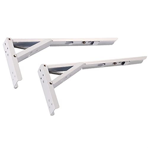 REN0124shuang Soporte de Esquina 2 PCS/Set Triangle Bracket8/ 10/12/ 14inch Soportes de Estante Plegables 90 Mesa de cojinete de Carga Pesada montada en Pared de Metal Ajustable Escuadras de ángulo