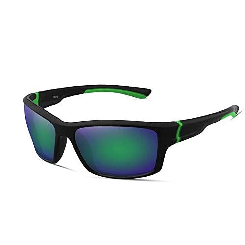 QWKLNRA Gafas De Sol para Hombre Lente Verde Marco Negro Y Verde Polarised Sports Sunglasses Cycling Gafas Gafas De Sol Deportivas Deportivas Deportivas Sports Bike Sunglasses Men Cycling Gafas Cicl