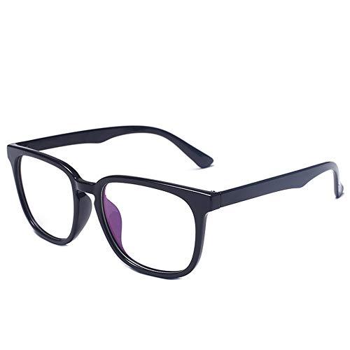 WOIA Gafas livianas con Filtro de luz Azul antirreflejo clásico de Montura Completa Retro, Montura Negra Mate