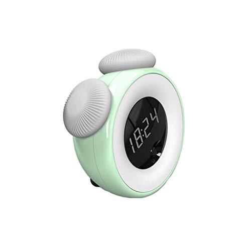 BSJZ Despertador de atenuación táctil Elegante Decorativo, Juego fácil de reconocimiento Corporal Recargable de Cabeza de Cama silenciosa Creativa