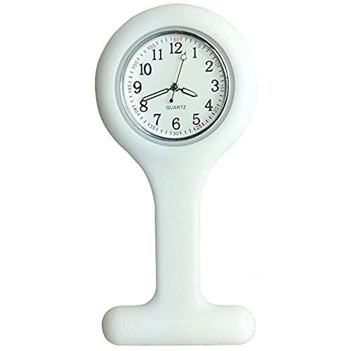 Reloj de la Enfermera de la Broche de Silicona Fob Control de Infecciones Diseño Cuidado de la Salud para Enfermera paramédico Broche Médico Fob Blanco del Reloj