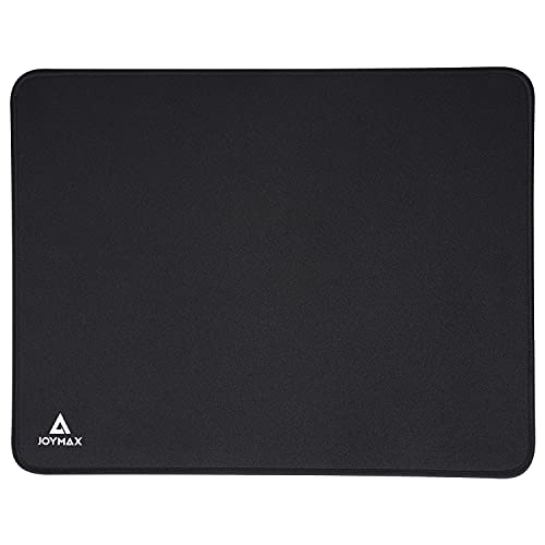Mouse Pad, Joymax Gaming Mouse Mat, Smooth Surface Mousepad with Stitched Edges and Non-Slip Rubber Base, Thick Mice Pad for Desktop, Computer, Laptop, Office - 14.17 x 11.03 x 0.16 inch, Black