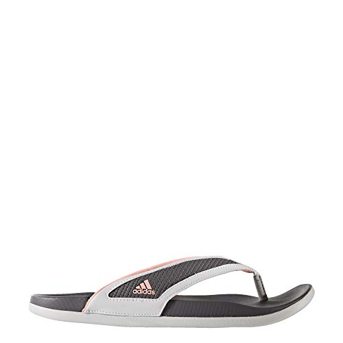 adidas Womens Supercloud-Footbed Grey Flip Flop Sandals (Size 8)