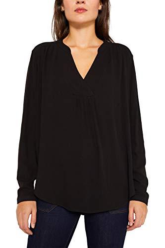 ESPRIT Damen 109Ee1F009 Bluse, Schwarz (Black 001), (Herstellergröße: 38)