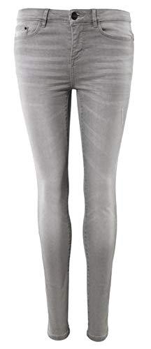 Esmara® Damen Super-Skinny-Jeans Besonders eng anliegend für einen körperbetonten Look Gr. 36/38/40/42/44 grau (38)