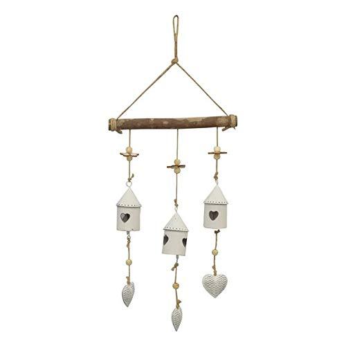 mitienda met liefde gemaakt vogelhuis, slinger, windspel, wanddecoratie slinger, raamdecoratie hout, decoratieve hangers, cadeau-idee