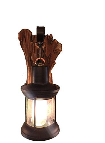 SiwuxieLamp applique murale Table de bar en fer forgé en bois massif CLMB010A (AF44) lumière support