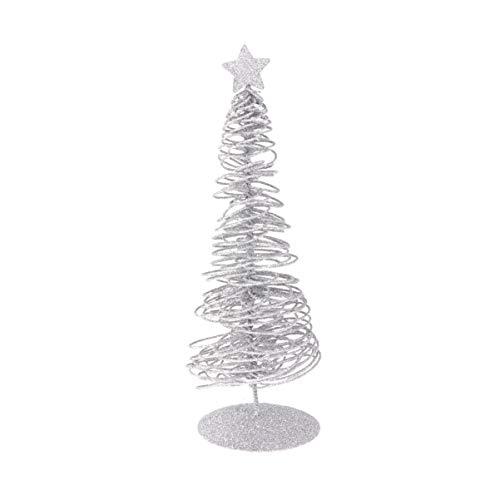 Amosfun Mini Árbol de Navidad de Metal con Estrella Decoración de Mesa Navidad Adorno de Jardín de Hada Centro de Mesa de Navidad Accesorio de Navidad