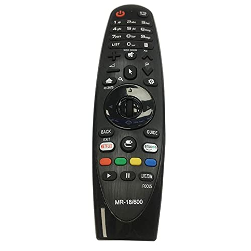 HUYANJUN, Control Remoto Magic Smart Magic Universal para LG Control Remoto MR-18/600 Actualizar con USB Función (Color : Negro)