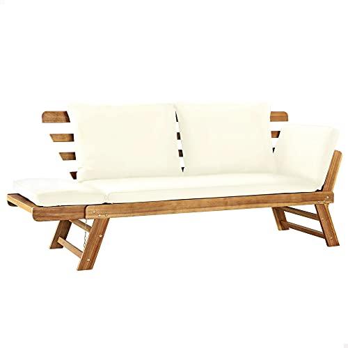 Aktive 61006 - Sofá cama para jardín con cojines