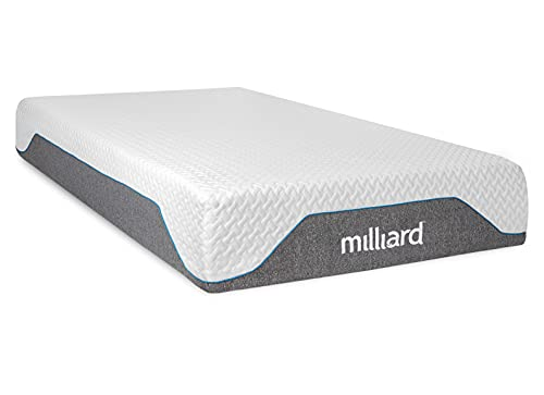 Milliard 10 Inch Semi Firm Memory Foam Mattress/CertiPUR-US Certified/Bed-in-a-Box/Pressure Relieving, Full