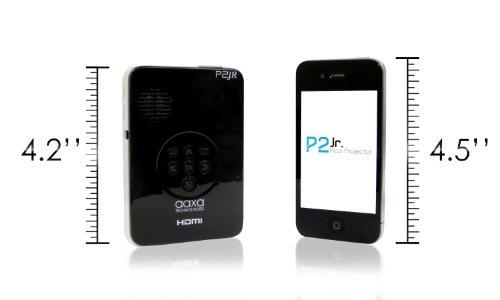 AAXA P2 Jr Pico Projector with 90 Minute Battery Life, Pocket Size, 15,000 Hour LED Life, Mini-HDMI, Mini-VGA, Media Player, DLP Projector Photo #2