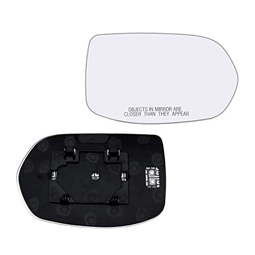 Right Hand Passenger Side Mirror Assembly Plastic Backing Plate Heated Defrost Glass Compatible With 2012-2016 Honda CRV 2016-2019 HRV 7-1/2 Inch Diagonal Sold By Rugged TUFF