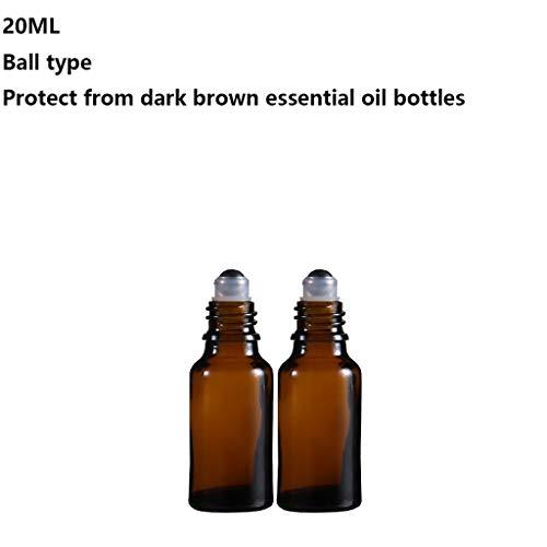 ZJY 5-20ml essentielles Bouteilles d'huile Portable en Verre Roll-on Bouteilles avec des Boules de Rouleaux en Acier Inoxydable Parfum Boule de Massag