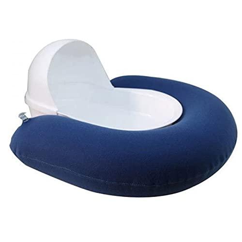 XUANX Artefacto De Heces para Ancianos con Parálisis, Inodoros para Orinales Inflables Masculinos Y Femeninos, Receptores Urinarios para Incontinencia De Enfermería para Ancianos En Cama,Azul