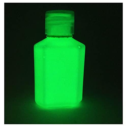 Pintura acrílica que brilla en la oscuridad, 30ml. Elige un color., Verde, 30ml (1 fl oz)
