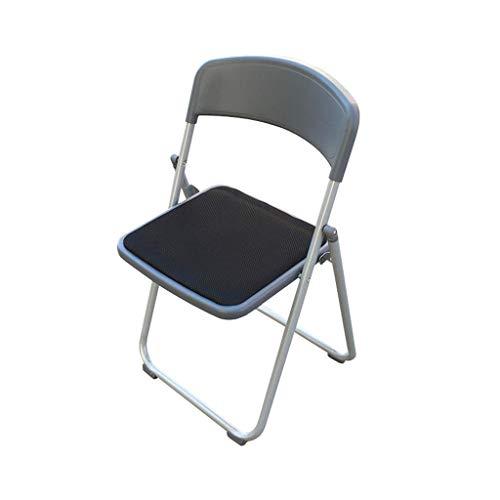 Chaise d'ordinateur Chaise Pliante réunion de Bureau Chaise de réception de selles Formation Maille Noire rembourrée PENGJIE