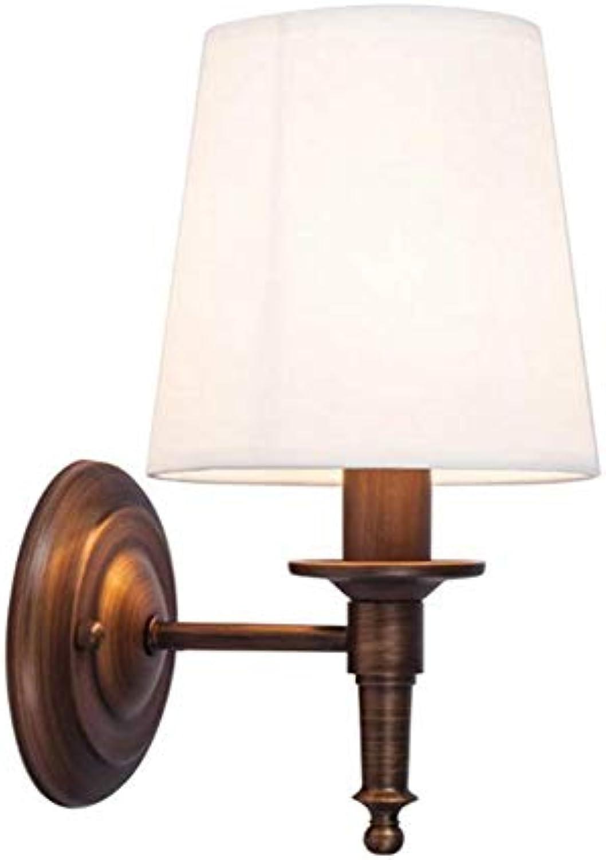 Wandlampe Nachttischlampe Retro Schmiedeeisen Bronze Wohnzimmer Flur Balkon Zimmer Wandleuchte