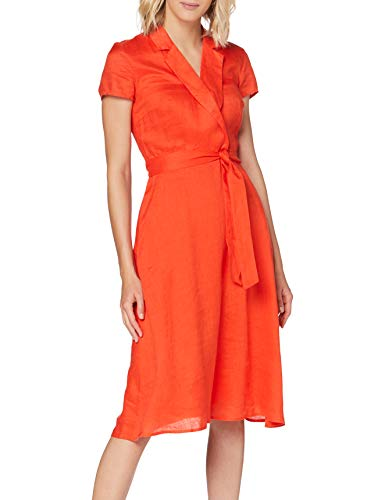 ESPRIT Collection Damen 040EO1E314 Kleid, 825/RED ORANGE, 36