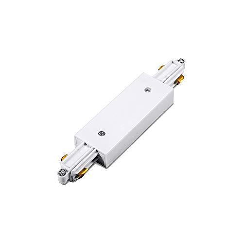 Lampenlux 1-Phasen Stromschiene Aufbauschiene und Zubehör (Weiß, Mitteleinspeisung)