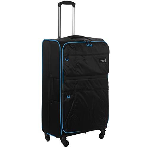 Kangol Unisex Superlight 1 Suitcase Black/Blue 22in/57cm