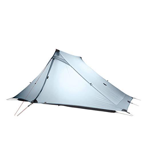 Mdsfe 3F UL GEAR LanShan 2 pro Tent 2 Person 3 Season Outdoor UltralightProfessional 20D Nylon Both Sides Silicon Camping Tent-3 Season Gray