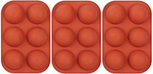 3 pcs 6 Holes Sphere Silicone Mold For Chocolate, Half Sphere Silicone Molds For Baking, BPA Free...